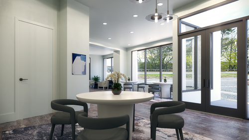 50 leo luxury brighton condos - coworking lounge