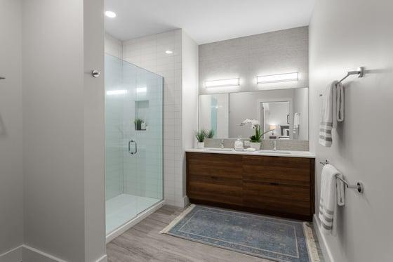 BRIX Salem Condos new model unit bathroom