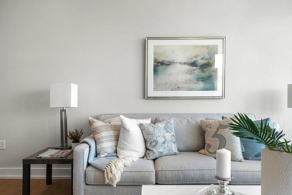 BRIX Condos in Salem, MA model unit living room