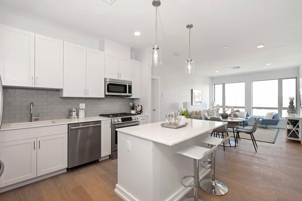 BRIX Salem condos model unit kitchen