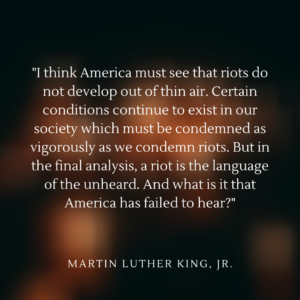 Martin Luther King Jr. on racial injustice