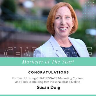 Susan Doig - marketer of the year at Charlesgate