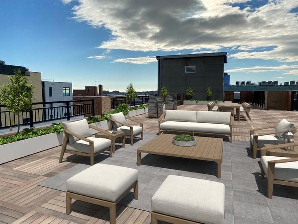 90o Revere Beach apartments - roof deck