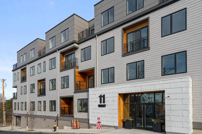 The Pacer East Boston condos exterior