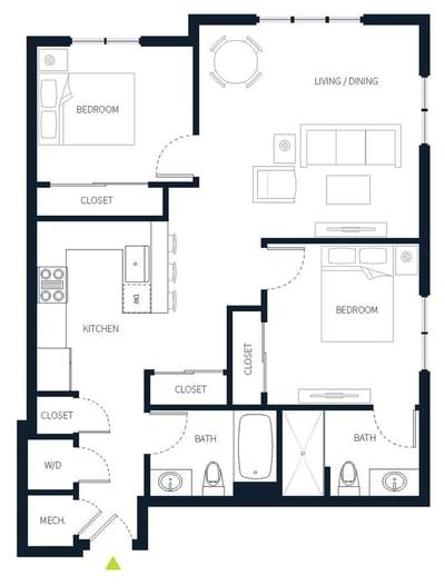 stadia50 unit 510 condo floor plan